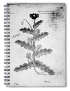 Botany: Opium Poppy Spiral Notebook