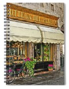 Bottega Del Pane Italian Bakery And Bicycle Spiral Notebook