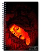 Botticelli Madonna In The Light Spiral Notebook