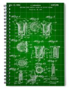 Bottle Cap Patent 1892 - Green Spiral Notebook