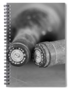 Bottle Necks In Black And White Spiral Notebook