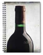 Bottle Of Bordeaux Spiral Notebook
