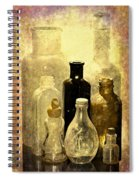 Bottles From The Past Spiral Notebook