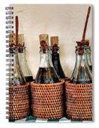 Bottles In Baskets Spiral Notebook