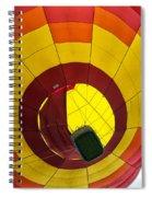 Bottoms Up Hot Air Balloon Spiral Notebook