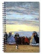 Boudin's The Beach At Villerville Spiral Notebook