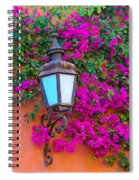 Bougainvillea And Lamp, Mexico Spiral Notebook