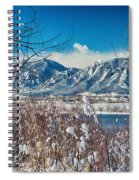 Boulder Colorado Winter Season Scenic View Spiral Notebook