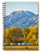 Boulder County Colorado Flatirons Autumn View Spiral Notebook