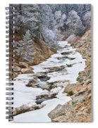 Boulder Creek Frosted Snowy Portrait View Spiral Notebook