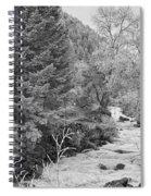 Boulder Creek Winter Wonderland Black And White Spiral Notebook
