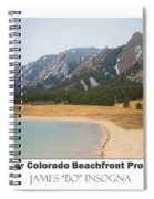 Boulder Flatirons Beachfront Property Poster White Spiral Notebook