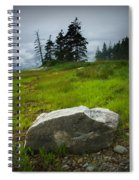 Boulder On The Shore At The Mount Desert Narrows In Maine Spiral Notebook