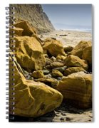 Boulders On The Beach At Torrey Pines State Beach Spiral Notebook