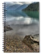 Boulders On The Edge Of Cheakamus Lake Spiral Notebook