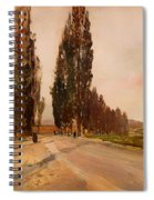 Boulevard Of Poplars Near Plankenberg Spiral Notebook