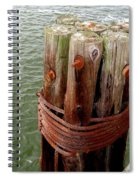 Bound And Bolted Spiral Notebook