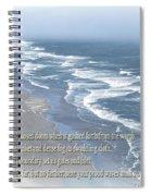 Boundaries Of Beaches Spiral Notebook