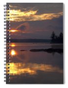 Boundary Waters Sunrise Spiral Notebook