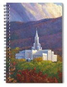 Bountiful Temple In The Mountains Spiral Notebook