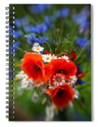 Bouquet Of Fresh Poppies Camomiles And Cornflowers Spiral Notebook