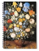 Bouquet In A Clay Vase Spiral Notebook