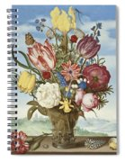 Bouquet Of Flowers On A Ledge Spiral Notebook