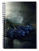 Bouquet Of Grape Hyiacints On The Dark Textured Surface Spiral Notebook