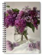 Bouquet Of Lilacs In A Glass Pot Spiral Notebook