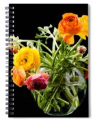 Bouquet Of Ranunculus Spiral Notebook