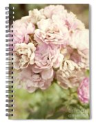 Bouquet Of Vintage Roses Spiral Notebook