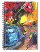 Bouquet With Black Tulip Spiral Notebook