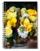 Bouquet With Roses And Calla Lilies Spiral Notebook
