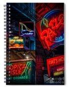 Bourbon St. Neon - Nola Spiral Notebook