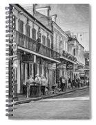 Bourbon Street Afternoon - Paint Bw Spiral Notebook