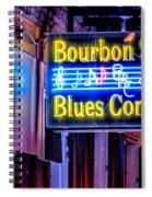 Bourbon Street Blues Spiral Notebook