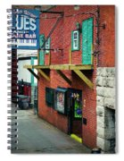 Bourbon Street Blues Spiral Notebook