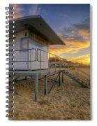 Bournemouth Beach Sunrise Spiral Notebook
