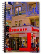 Boutique Erotique Romance Mont Royal The Love You Make Is Equal To The Love You Take City Scene Art Spiral Notebook
