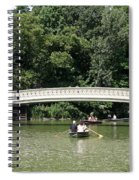 Bow Bridge And Row Boats Spiral Notebook