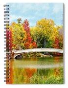 Bow Bridge Autumn In Central Park  Spiral Notebook
