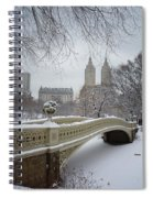 Bow Bridge Central Park In Winter  Spiral Notebook