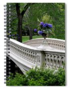 Bow Bridge Flower Pots - Central Park N Y C Spiral Notebook