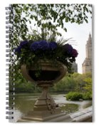 Bow Bridge Flowerpot And San Remo Nyc Spiral Notebook