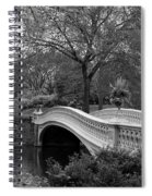 Bow Bridge Nyc In Black And White Spiral Notebook