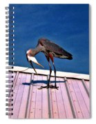 Bowing Blue Heron Spiral Notebook