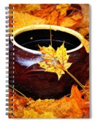 Bowl And Leaves Spiral Notebook