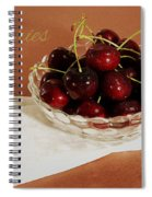 Bowl Of Cherries With Text Spiral Notebook