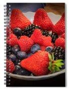 Bowl Of Fruit 1 Spiral Notebook
