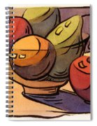 Bowl Of Fruit 8 Spiral Notebook